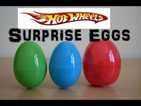 Surprise Eggs Hot Wheels Race Cars Toy Review Fun Cool Cars die-cast