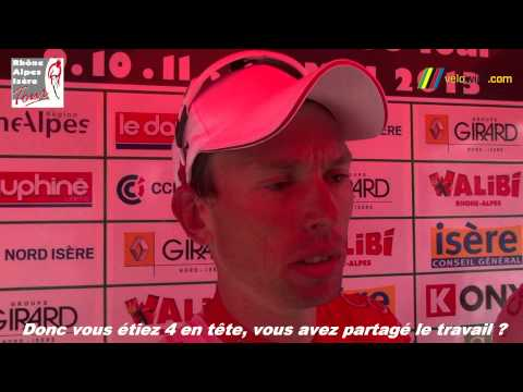 Interview Nico Sijmens, vainqueur de la 3�me �tape du Rh�ne Alpes Is�re Tour et maillot jaune (113x)