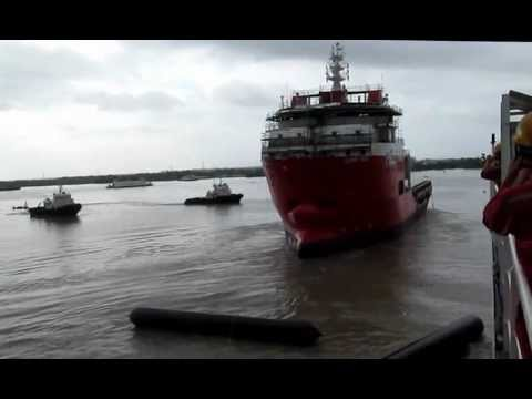92M DP2 Anchor Handling Tug Supply Vessel Launching