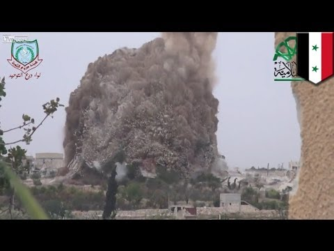 Syrian war: Massive tunnel bomb explosion kills 30 soldiers and 2 Islamic Front fighters