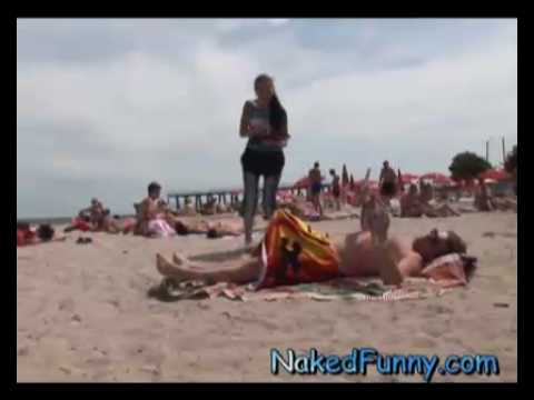 funny prank video on the beach