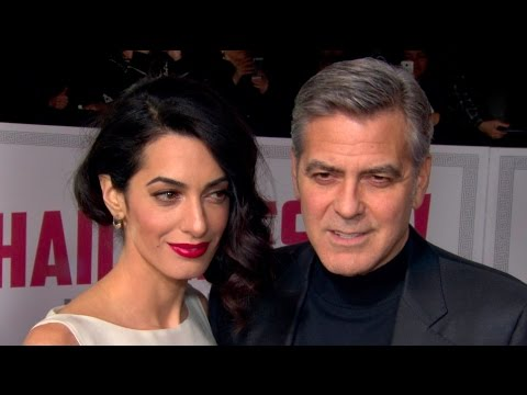 George Clooney & Amal Clooney at the Hail, Caesar! Premiere