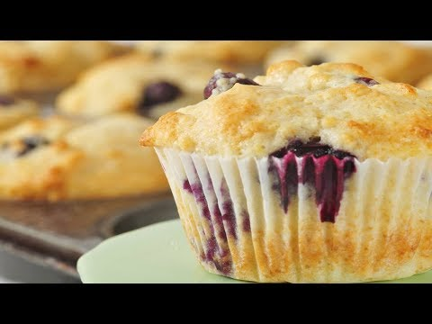 Blueberry Muffins Recipe Demonstration - Joyofbaking.com