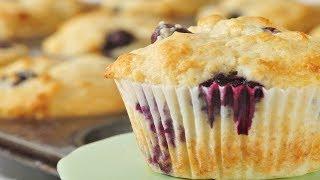 Blueberry Muffins Recipe Demonstration - Joyofbaking.com