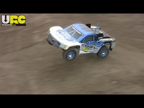 ARRMA Fury 2WD SC on an unfinished track. 2S LiPo