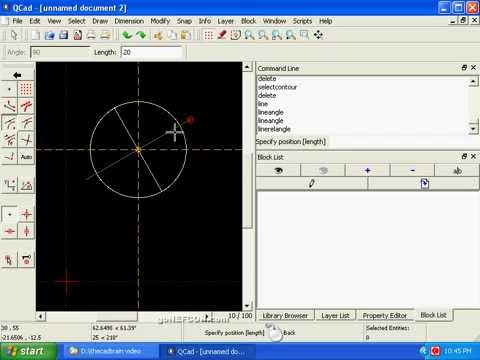 Qcad 1 Beginner 39 S Cad Qcad Tutorial How To Make Do