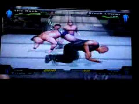 Smackdown Hctp - The Rock Vs Brock Lesnar Vs Triple H Vs Big Show - 4 Man Battle Royal video