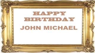 John Michael   Birthday Postcards & Postales
