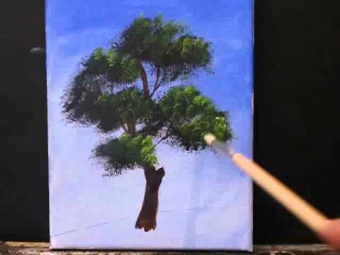How to paint a tree youtube for How to paint a tree