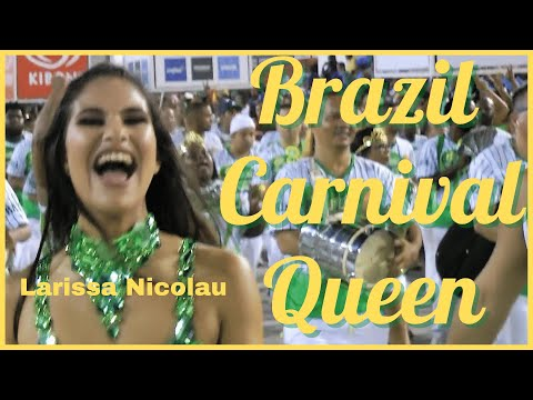 OPULENT BRAZILIAN SAMBA QUEEN SHOWS HOW TO LEAD SAMBA DRUMMERS: LARISSA NICOLAU