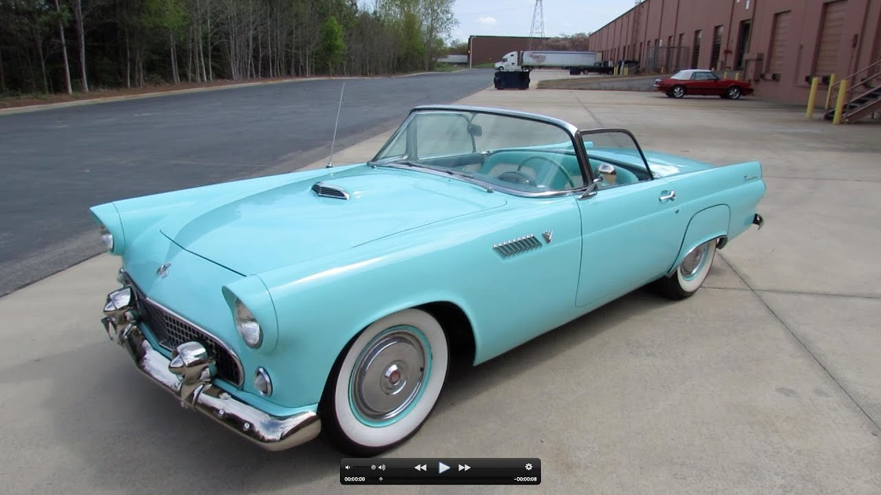 1955 ford thunderbird roadster start up exhaust and in depth tour youtube. Black Bedroom Furniture Sets. Home Design Ideas