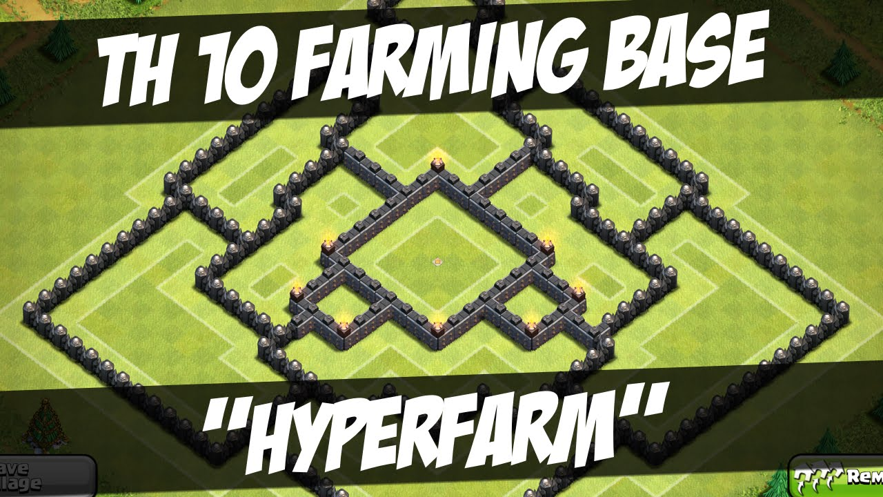 Clash of clans epic th 10 farming base quot hyperfarm quot youtube