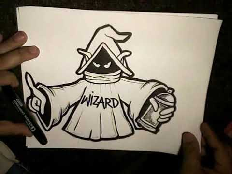 How To Draw A WIZARD  (Orco Character)