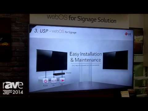 ISE 2014: LG Launches webOS for Signage Solution