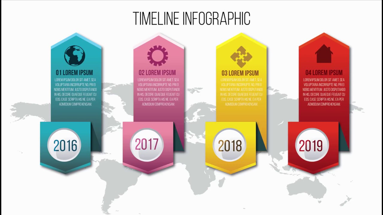 Infographic tutorial illustrator logo videos for kids