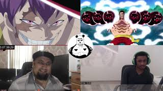 luffy GEAR 4 vs cracker reaction mashup - one piece