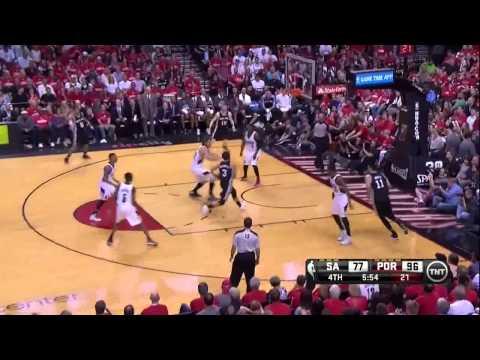 NBA, playoff 2014, Spurs vs. Trail Blazers, Round 2, Game 4, Move 48, Marco Belinelli, layup