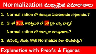TSLPRB Normalization 3 Major doubts & Explanation with proof | TS police Results