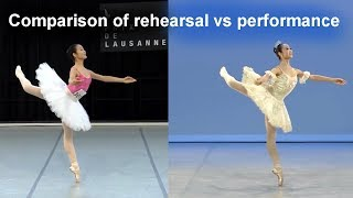 Ballet Comparison Jingyi Xu 39 S Dulcinea Variation Rehearsal And Performance