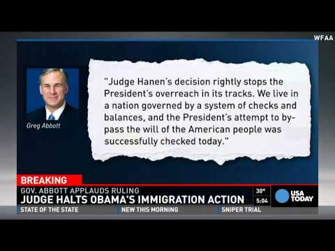 Obama's immigration plan halted by judge