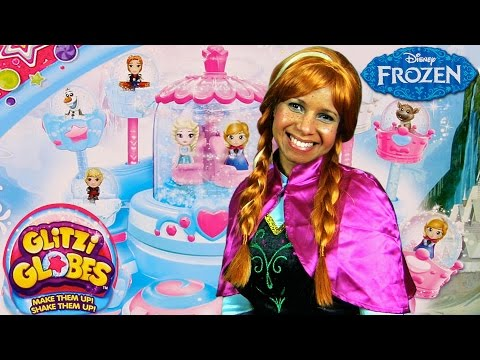 Disney Frozen Glitzi Globes Elsa's Ballroom with Princess Anna !    Disney Toy Reviews    Konas2002
