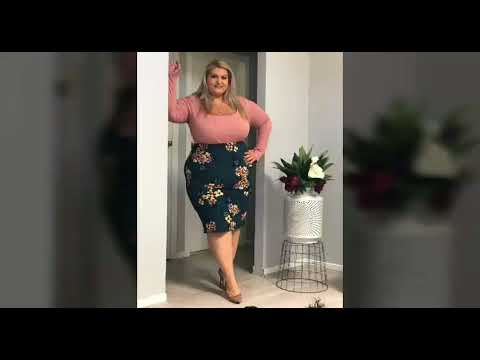 New stunning summer carvey outfit lades plus size model with fashion