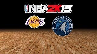 Lakers vs. Timberwolves - 1.6.19 - NBA 2K19 MyLeague