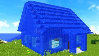 TURNING MY MINECRAFT HOUSE INTO WATER!