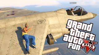 GTA 5 Fun - Hydra Jet Games, Parachute Stunt, Sexy Pose