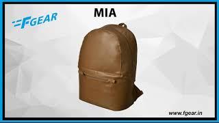 F Gear Mia Luxur Chestnut 23 Ltrs Laptop Backpack