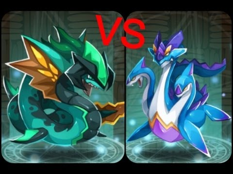 Haypi monsters- hydra Vs levi