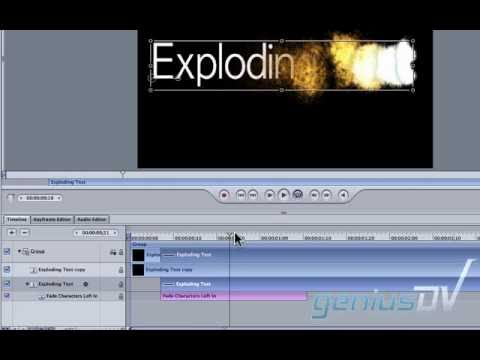 Exploding text effect