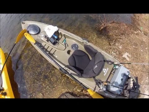 Ascend fs12t takes on rolling waves in lake youtube for Ascend fs12t fishing kayak