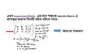 Matrix:Gauss-Jordan Elimination Method - গাউস জর্ডান এলিমিনেশন মেথড