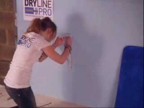 Sophie installs a shelf on a dot and dab wall with DrylinePro