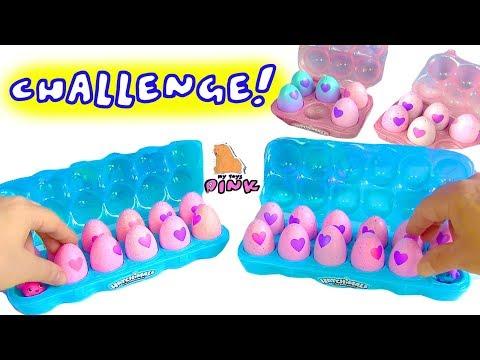 #ЧЕЛЛЕНДЖ - ЧЬИ ЯЙЦА ЛУЧШЕ!? Surprise Eggs Challenge #Яйца с Сюрпризом Хэтчималс! Игры для Детей