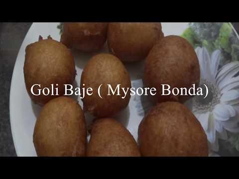 Goli Baje  Mysore Bonda
