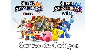 Sorteo de Codigos para el Demo De Super Smash Bros 3DS