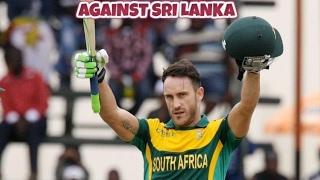 Faf du Plessis smashed 185 Runs in 141 Balls Against SRI-Lanka in 4th ODI 2017