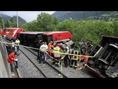 BREAKING NEWS -Swiss train derailed in landslide