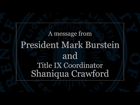 A Message from Mark Burstein and Shaniqua Crawford