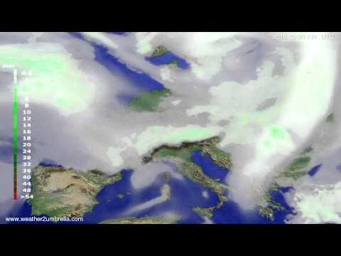Precipitation forecast Europe 2015-03-26