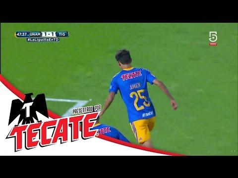 Gol de Jürgen | Pumas 1 - 2 Tigres | Liguilla Apertura 2016 | Televisa Deportes