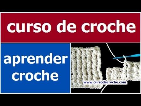 CROCHE AULA 12 PONTO BARRA 1/1 E OU 2/2 (HD)