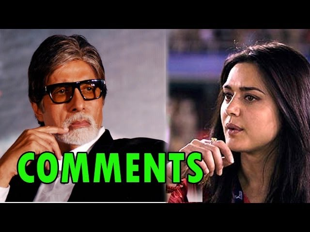 Amitabh Bachchan 'COMMENTS 'on Preity Zinta's controversy | Bollywood News