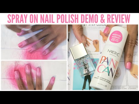 - DOES IT WORK?! - Nails Inc 'Paint Can' Spray On Nail Polish Demo and Review ♡☆❄