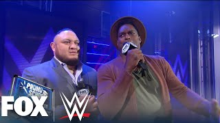 Samoa Joe takes LaVar Arrington to Promo School | WWE BACKSTAGE | WWE ON FOX