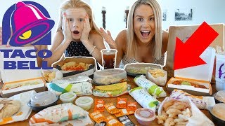 ORDERED EVERYTHiNG ON MENU AT TACO BELL!! 🌮🌮🌮😱