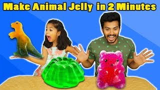 Kids Making Animal Jelly | Very Easy Jelly Making Recipe