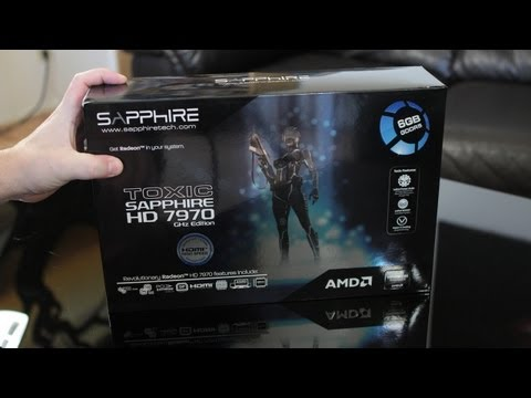 Sapphire 6GB TOXIC HD 7970 GHz Edition Video Card Unboxing, First Look & Overview
